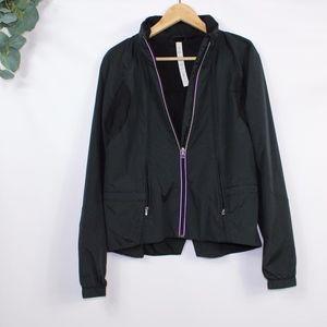 lululemon black rain jacket